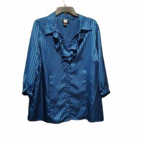 Studio 1940 Blue Long Sleeve Plus Size 18/20 Top